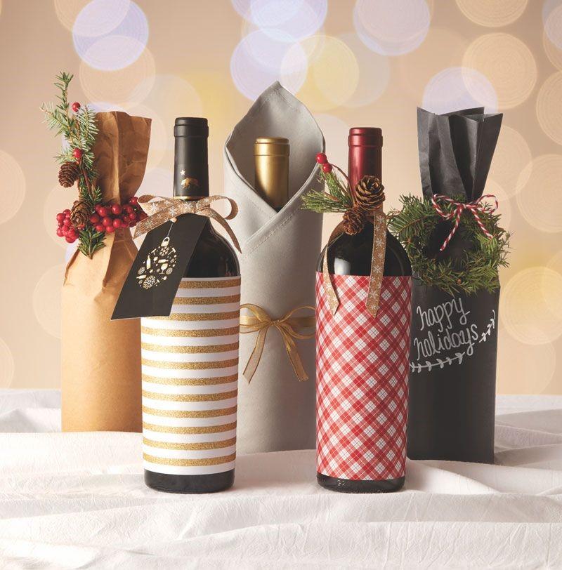 botella de vino decorada