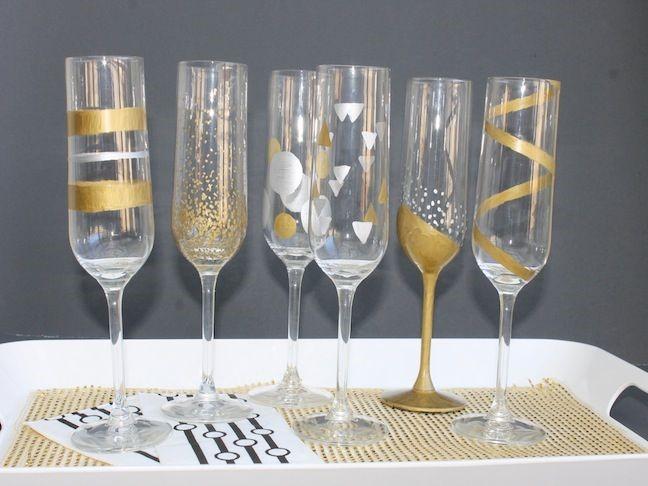 copa de champan decorada